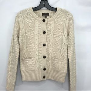 FENN WRIGHT MANSON Cable Knit Sweater Size Small
